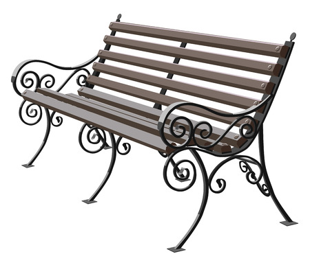 wrought iron bench seat sydney furniture replacement cushions outdoor park isolated white background vector illustration