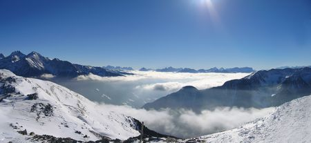 Low clouds in the Ahrn valley (Italian Alps) Stock Photo - 288494