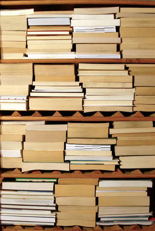 Shelves of books facing in. Stock Photo - 16578253