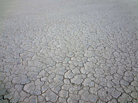 A very dry outback lake bed background.