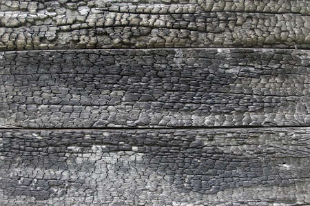 A burnt wood background with texured wood. Stock Photo