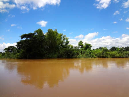 The Mekong river in Laos during wet season
