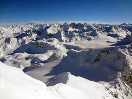 View from the top of Mont Fort in the alps of southern Switzerland
