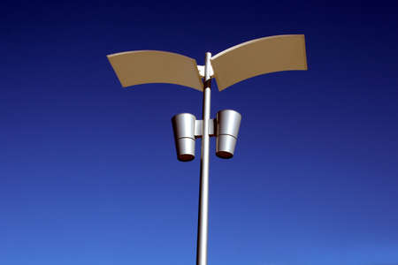 A new modern street light on a pole  Stock Photo