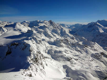 The Swiss mountains from the top of Mont Fort