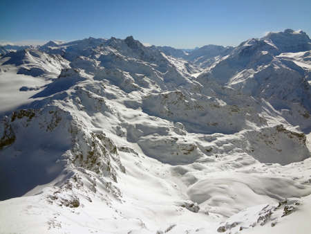 The Swiss alps after a lot of fresh snow fall
