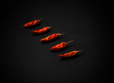 Red hot dryed chilli peppers