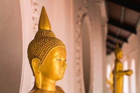 nakhon pathom: Golden Buddha statue at Wat Phra Pathom Chedi in Nakhon Pathom Thailand.