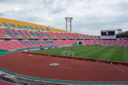 BANGKOK, THAILAND - JULY 13: View of Rajamangala Stadium on July 13, 2015 in Bangkok, Thailand. Rajamangala Stadium is the national stadium of Thailand.