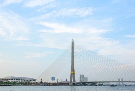 viii: RAMA VIII Bridge in Bangkok