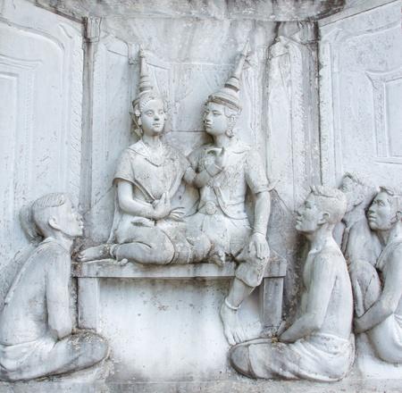 Thai sculpture of culture  Stock Photo