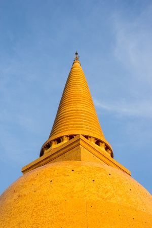 Big Pagoda famous in Thailand Stock Photo