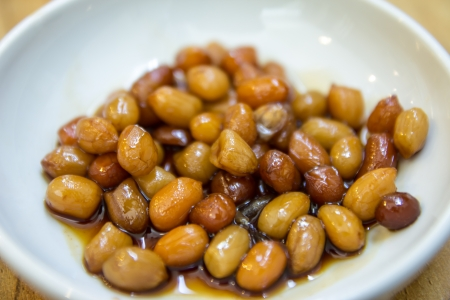 Boiled Peanut with Soy Sauce Stock Photo