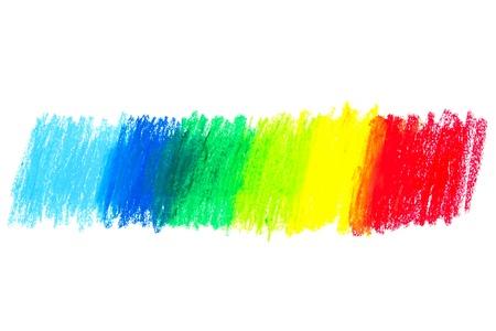 Oil Pastels spectrum on paper photo