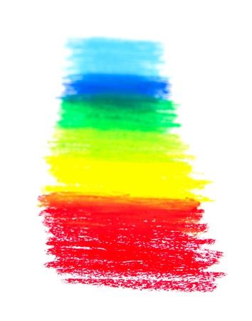 Oil Pastels spectrum closeup on paper photo