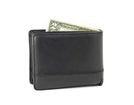 Two dollar in wallet photo