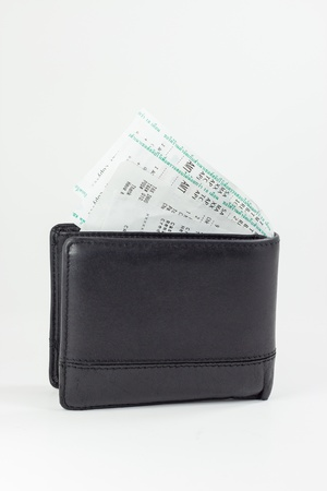Many receipts in wallet Stock Photo - 14808725