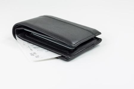 Receipt in wallet Stock Photo - 14808720