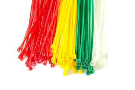 zip tie: Closeup group Nylon Cable Ties