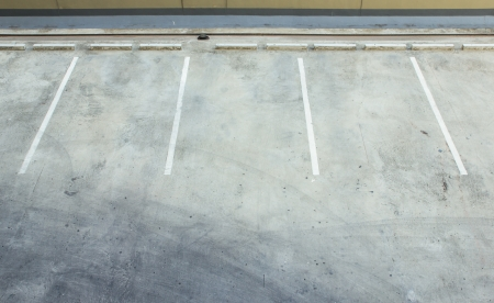 Empty car park Stock Photo