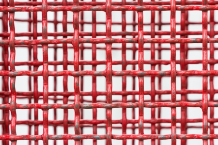 Background of red steel grating photo