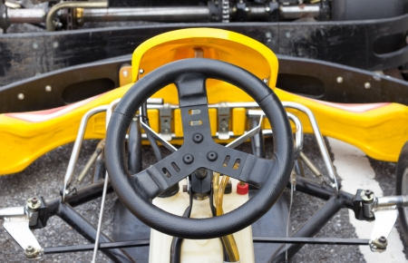 Closeup backside joystick of Go-kart