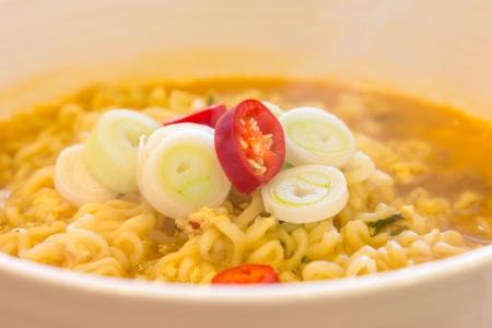 Korean Noodles closeup  photo