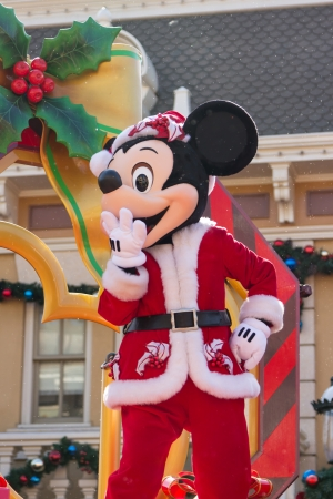 MICKEY MOUSE - DEC 31: Celebrate Christmas New Year Festival on December 31, 2012 in Disneyland, Hong Kong Editorial