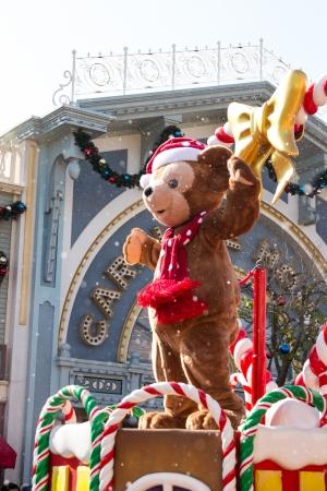 DUFFY THE DISNEY BEAR - DEC 31: Celebrate Christmas New Year Festival on December 31, 2012 in Disneyland, Hong Kong Editorial