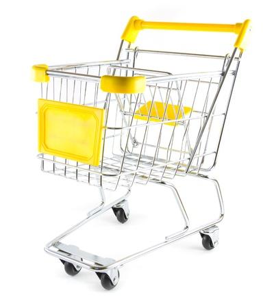 Shopping cart on white background  Stock Photo - 17390517