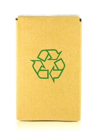 Packing box with recycle symbol  Stock Photo - 17502396