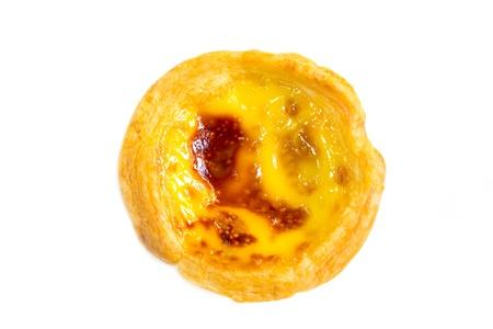 egg tart: Top view one egg tart