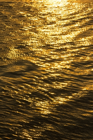 Reflective surface on river