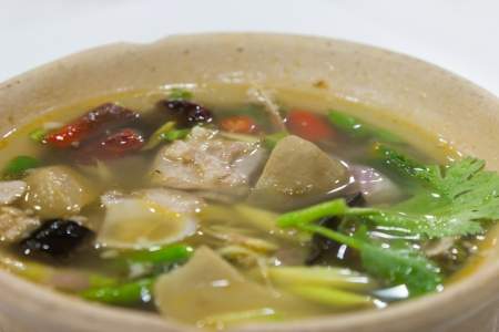 Pork rib in spicy and sour soup
