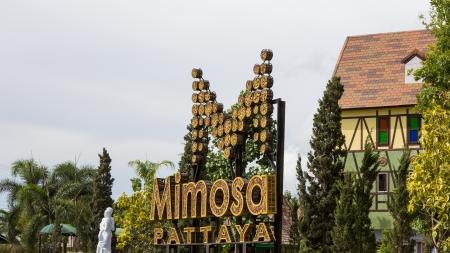 Entrance attractions in Pattaya  Pattaya, Thailand - May 19, 2013  The Mimosa attractions at Pattaya