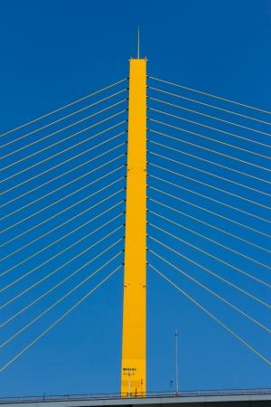 Pillar of sling bridge vertical  photo