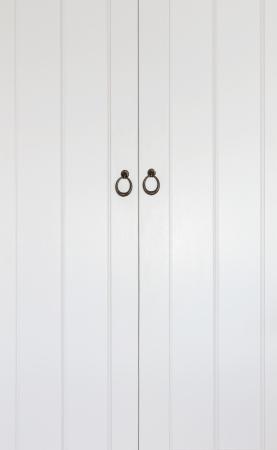 Wooden classic white door in vertical