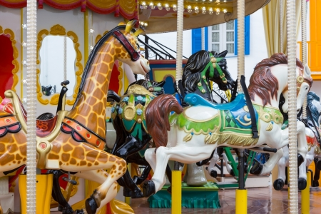 Seat in Merry go round at carnival