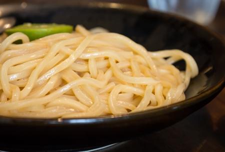 Fresh ramen noodle in blow