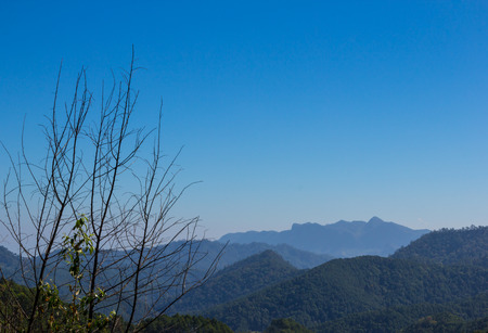 Landscape mountain view at Chaing dao, Thailand  Stock Photo