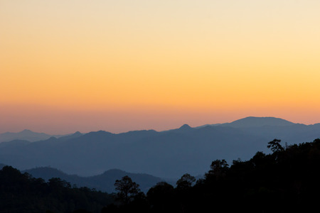 dao: Sunset sky of mountain view at chiang dao, Thailand