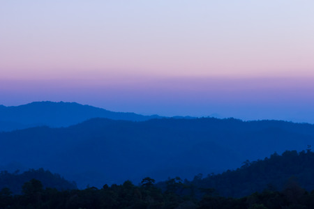 Beautiful twilight sky of mountain view at chiang dao, Thailand  photo