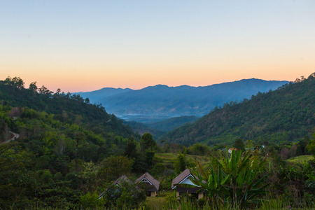 dao: Landscape depth of mountain view at chiang dao, Thailand