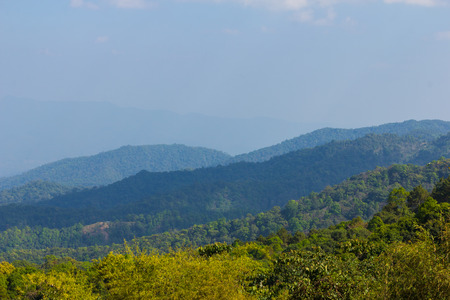 Mountain view background in day light at Doi Mae Taman Chiang Mai
