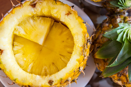 Pineapple decorated ready to served  Stock Photo