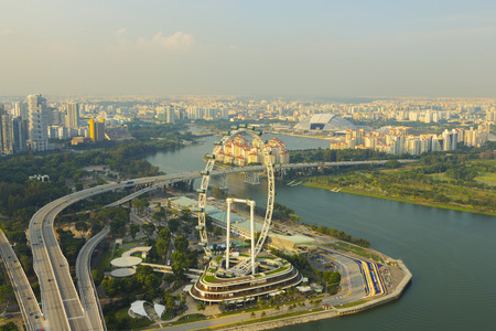 Cityscape downtown  in singapore