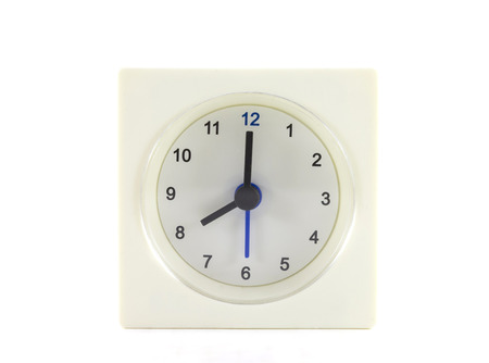 minute hand: The clock isolated on white background 8 OClock