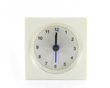 12 oclock: The clock isolated on white background 12 OClock