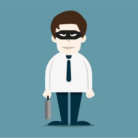 deceitful: Thief in business man