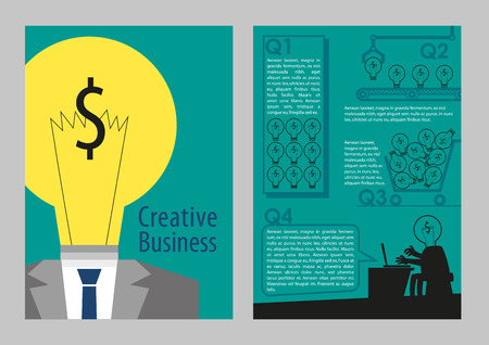 Flyer creative business concept style Illustration